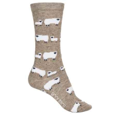 Woolrich Novelty Sheep Socks - Crew (For Women) in Khaki - Overstock