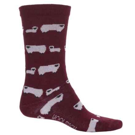 Woolrich Novelty Sheep Socks - Crew (For Women) in Wine - Overstock