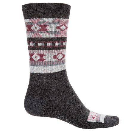 30ac9fd8319 Woolrich Novelty Snowflake Socks - Crew (For Women) in Charcoal - Overstock