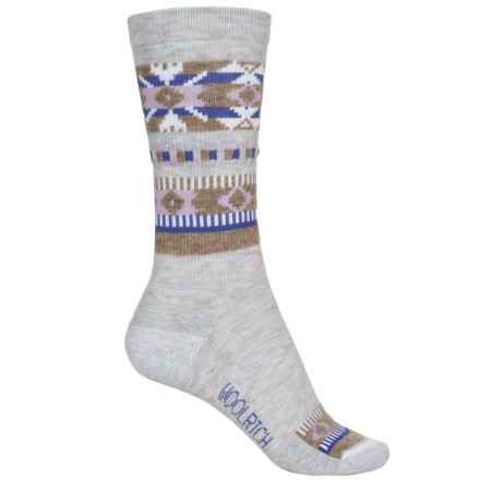 Woolrich Novelty Snowflake Socks - Crew (For Women) in Winter White - Overstock