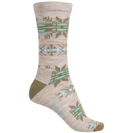 Woolrich Novelty Snowflake Stripe Socks - Merino Wool, Crew (For Women)