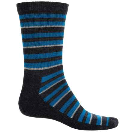 Woolrich Novelty Stripe Scene Socks - Merino Wool, Crew (For Men) in Cobalt - Closeouts