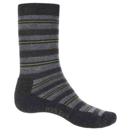 Woolrich Novelty Stripe Scene Socks - Merino Wool, Crew (For Men) in Jet - Closeouts