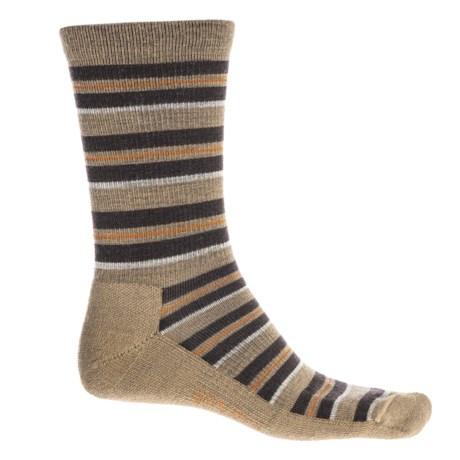 Woolrich Novelty Stripe Scene Socks - Merino Wool, Crew (For Men) in Khaki