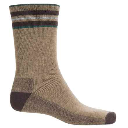 Woolrich Novelty Stripe Scene Socks - Merino Wool, Crew (For Men) in Lead Grey - Closeouts