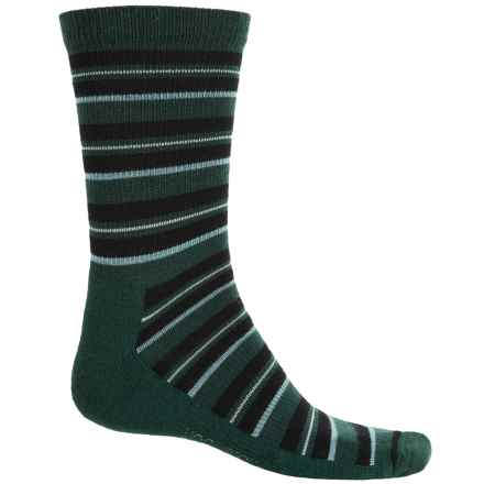 Woolrich Novelty Stripe Scene Socks - Merino Wool, Crew (For Men) in Pine Grove - Closeouts