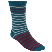 Woolrich Novelty Stripe Socks - Merino Wool, Crew (For Women) in Mineral Blue - Closeouts