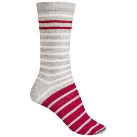Woolrich Novelty Stripe Socks - Merino Wool, Crew (For Women) in Soft Grey - Closeouts