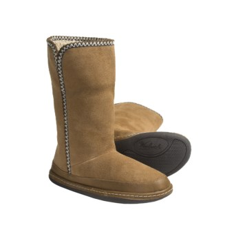 Woolrich Oak Run Boots - Microsuede, Sherpa-Lined (For Women) in Chestnut
