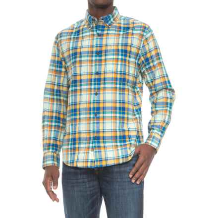 Woolrich Oak View Eco Rich Shirt - Long Sleeve (For Men) in Summer Sky - Closeouts