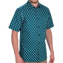 Woolrich Off Road Printed Shirt - Short Sleeve (For Men) in Cadet Blue - Closeouts