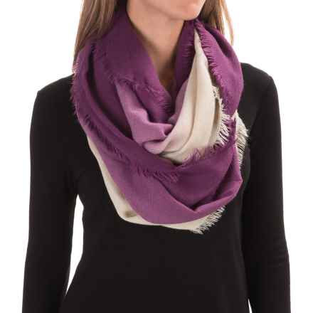 Woolrich Ombre Eternity Scarf (For Women) in Wisteria/Wool Cream - Closeouts