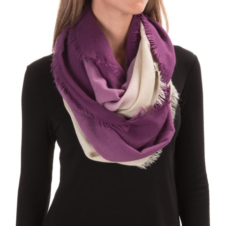 Woolrich Ombre Eternity Scarf (For Women) in Wisteria/Wool Cream