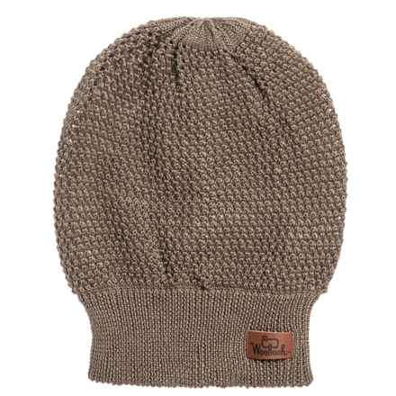 Woolrich Open-Knit Slouch Beanie (For Men and Women) in Brown - Closeouts