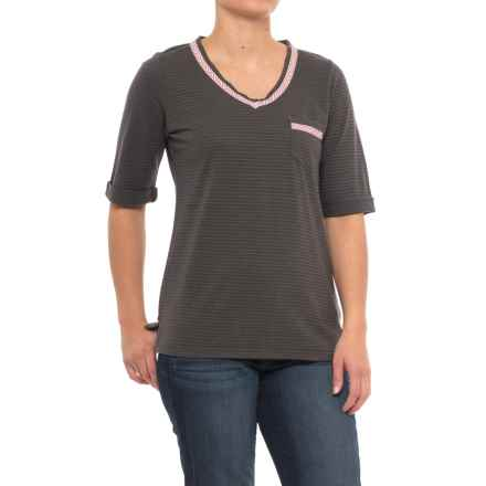 Woolrich Outside Air Eco Rich Hemp Shirt - Short Sleeve (For Women) in Matte Gray - Closeouts