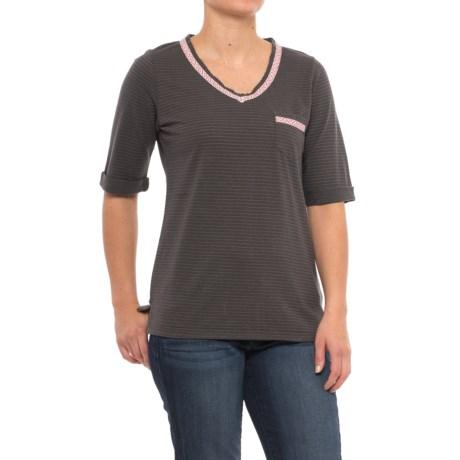Woolrich Outside Air Eco Rich Hemp Shirt - Short Sleeve (For Women) in Matte Gray