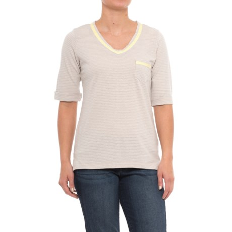 Woolrich Outside Air Eco Rich Hemp Shirt - Short Sleeve (For Women) in Silver Gray