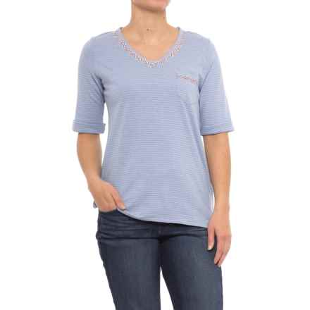 Woolrich Outside Air Eco Rich Hemp Shirt - Short Sleeve (For Women) in Stonewash - Closeouts