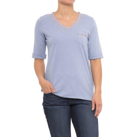 Woolrich Outside Air Eco Rich Hemp Shirt - Short Sleeve (For Women) in Stonewash