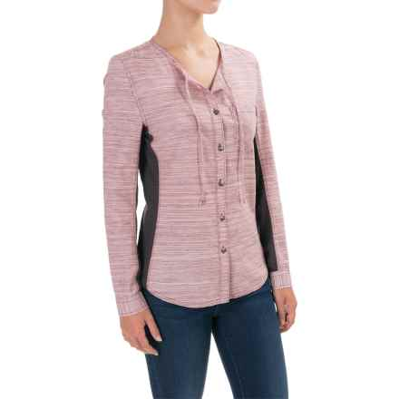 Woolrich Outside Air Shirt - Long Sleeve (For Women) in Eggplant - Closeouts