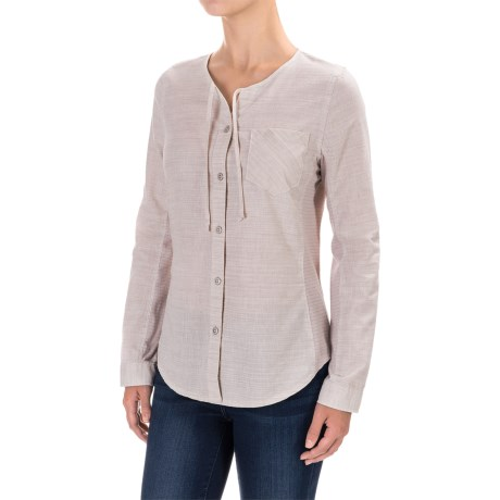 Woolrich Outside Air Shirt - Long Sleeve (For Women) in Silver Gray