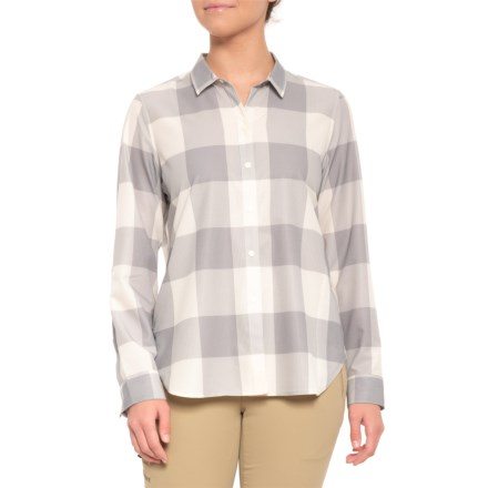 5b041692a63 Woolrich Over   Out Shirt - Long Sleeve (For Women) in Beachside Gray Check