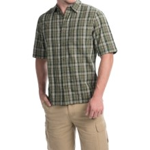Woolrich Overlook Dobby Plaid Shirt - Short Sleeve (For Men) in Olive - Closeouts