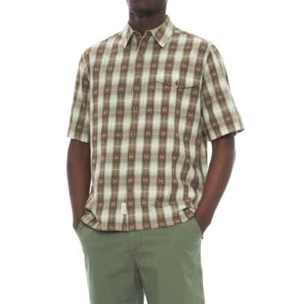 Woolrich Overlook Dobby Shirt - Organic Cotton, Short Sleeve (For Men) in Chicory - Overstock