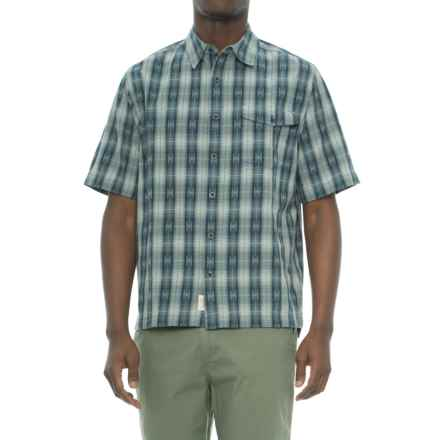 Woolrich Overlook Dobby Shirt - Organic Cotton, Short Sleeve (For Men) in Dusk - Overstock