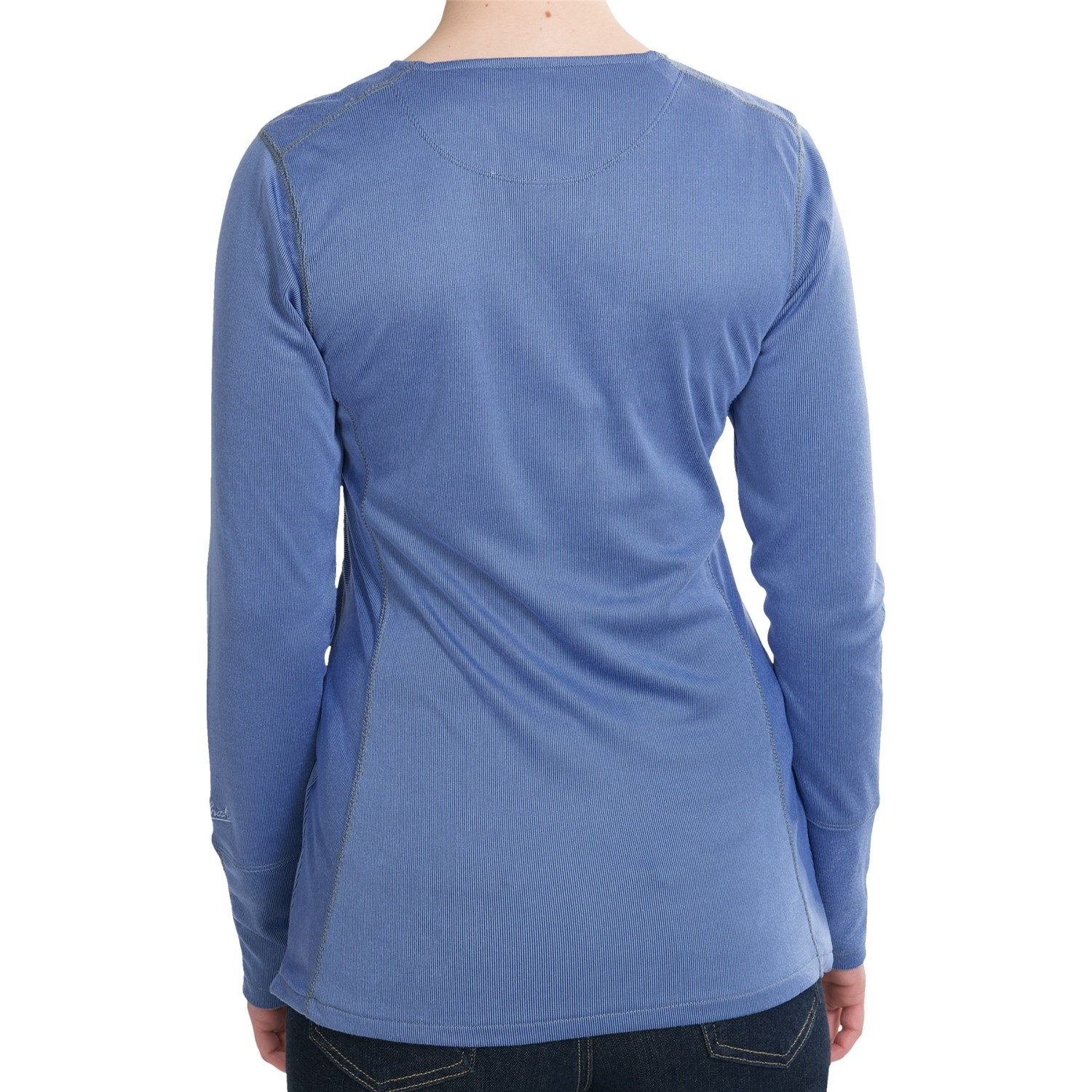 Woolrich overlook ribbed shirt for women 6930v for Ribbed long sleeve shirt