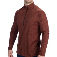 Woolrich Overlook Shirt - Zip Neck, Long Sleeve (For Men) in Spice - Closeouts