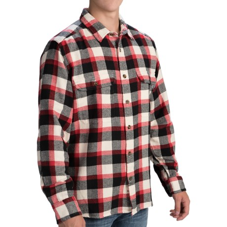 Woolrich Oxbow Bend Flannel Shirt - Cotton, Long Sleeve (For Men) in Cardinal
