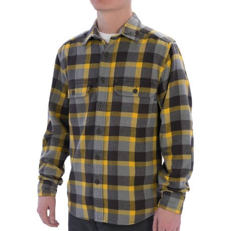 Woolrich Oxbow Bend Flannel Shirt - Cotton, Long Sleeve (For Men) in Frost Grey