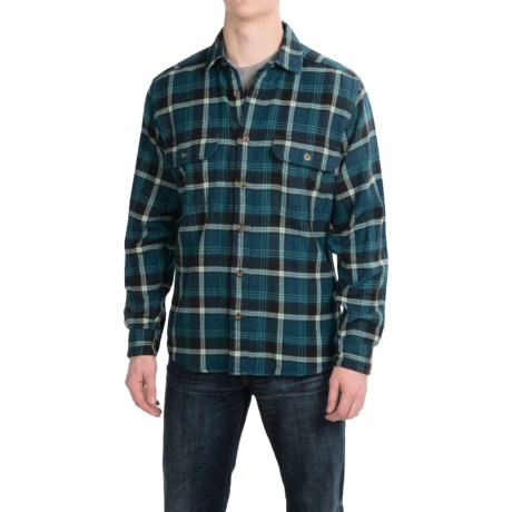 Woolrich Oxbow Bend Flannel Shirt - Cotton, Long Sleeve (For Men) in Nordic Blue
