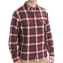 Woolrich Oxbow Bend Flannel Shirt - Cotton, Long Sleeve (For Men) in Moccasin