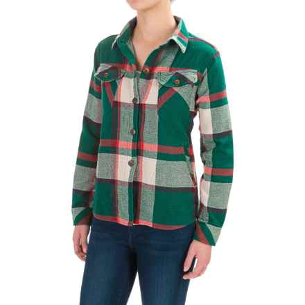 Woolrich Oxbow Bend Flannel Shirt Jacket (For Women) in Dark Teal Plaid - Closeouts