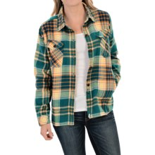 Woolrich Oxbow Bend Flannel Shirt Jacket (For Women) in Deep Teal - Closeouts