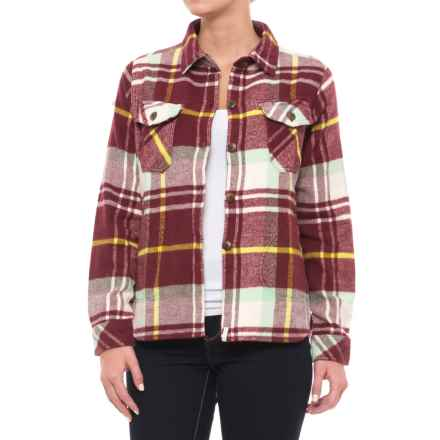 Woolrich Oxbow Bend Flannel Shirt Jacket (For Women) in Oxblood Red - Closeouts