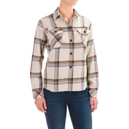 Woolrich Oxbow Bend Flannel Shirt Jacket (For Women) in Silver Gray Plaid - Closeouts
