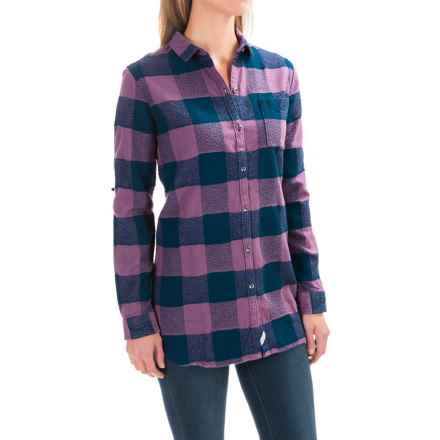 Woolrich Oxbow Bend Flannel Tunic Shirt - Long Sleeve (For Women) in Hyacinth Buffalo - Closeouts