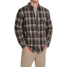 Woolrich Oxbow Bend Plaid Flannel Shirt Jacket - Snap Front (For Men) in Coal - Closeouts