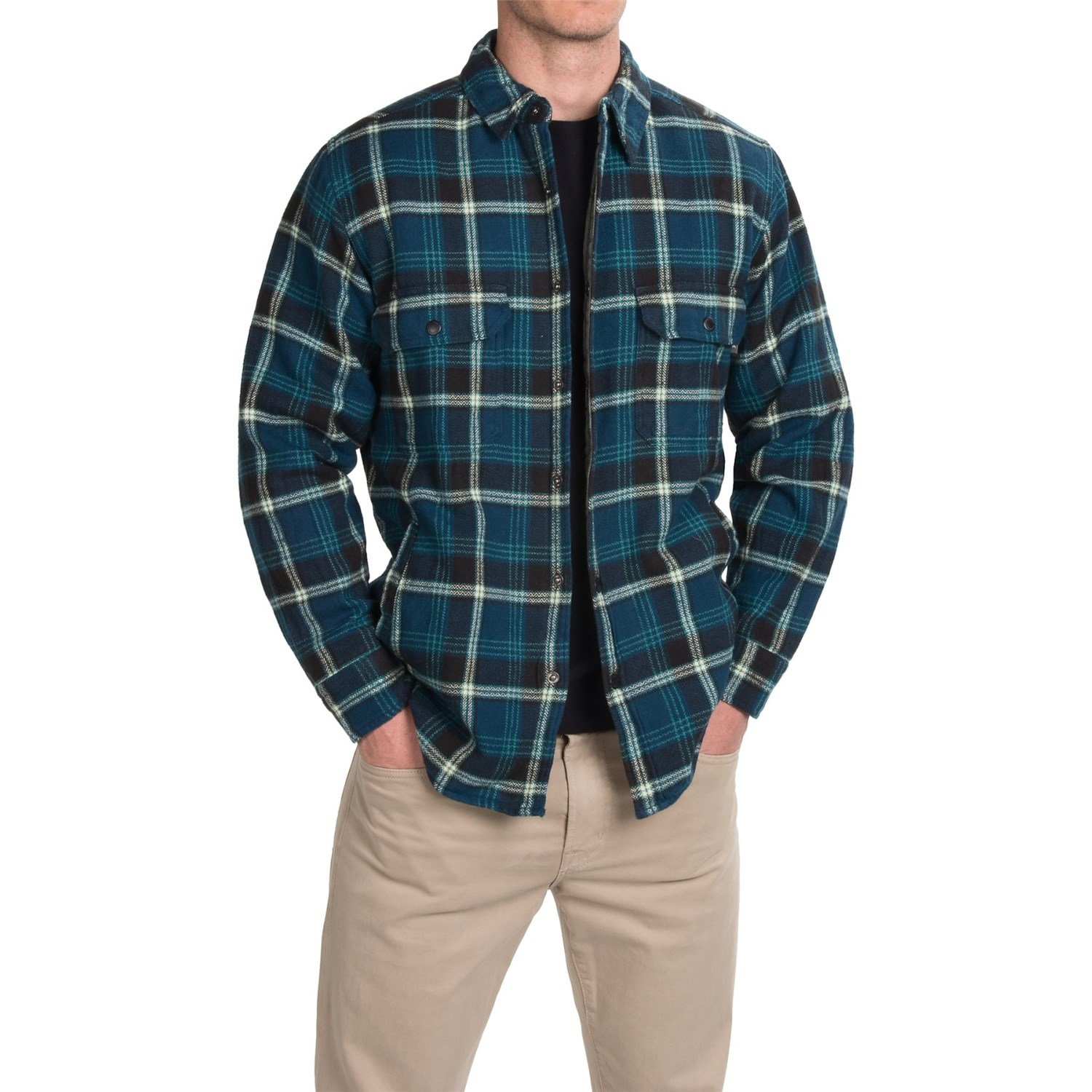 woolrich oxbow bend plaid flannel shirt jacket for men