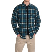 Woolrich Oxbow Bend Plaid Flannel Shirt Jacket - Snap Front (For Men) in Nordic Blue - Closeouts