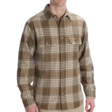 Woolrich Oxbow Bend Shirt - Cotton, Long Sleeve (For Men) in Shale Check - Closeouts