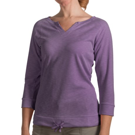 Woolrich Paradise Shirt - UPF 30, TENCEL®, 3/4 Sleeve (For Women) in Sea Salt