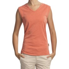 Woolrich Paradise Slub Knit T-Shirt - UPF 30+, V-Neck, Sleeveless (For Women) in Calypso - Closeouts