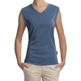 Woolrich Paradise Slub Knit T-Shirt - UPF 30+, V-Neck, Sleeveless (For Women)