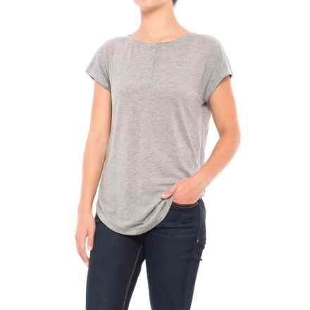Woolrich Park Rapids Henley Shirt - Short Sleeve (For Women) in Stoneware Heather - Closeouts