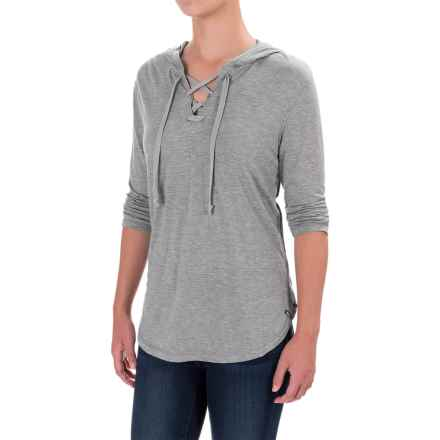Woolrich Park Rapids Hoodie Shirt - TENCEL®-Merino Wool, Elbow Sleeve (For Women) in Stoneware Heather - Closeouts