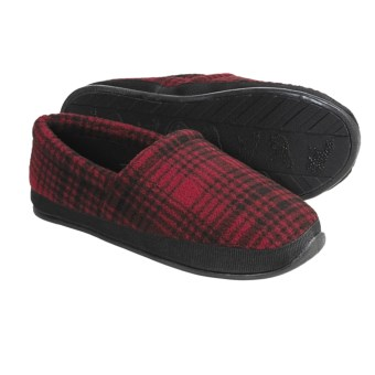 Woolrich Parkwood Moc Slippers - Fleece Lining (For Men) in Red/Black Plaid